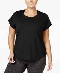 Ideology Plus Size Mesh Back T Shirt Only At Macy's Noir