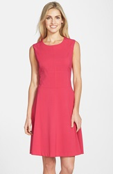 Marc New York By Andrew Marc Woven Fit And Flare Dress Bright Rose