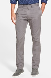 Grayers 'Newport' Slim Fit Washed Cotton Twill Chinos Medium Grey