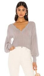 Free People Dreamgirl Top In Gray. Grey