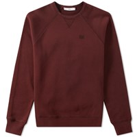 Ami Alexandre Mattiussi Embroidered Logo Crew Sweat Burgundy