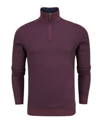 Ted Baker Mescat Half Zip Funnel Neck Jumper Purple