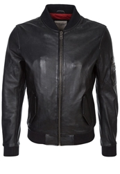 Redskins Baltimore Leather Jacket Black
