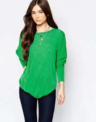 Wal G Top With Drape Front Green