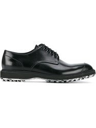 Christian Dior Homme Printed Sole Derby Shoes Black
