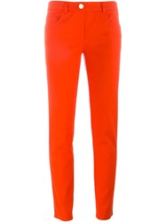 Boutique Moschino Slim Fit Trousers Red