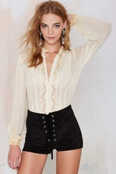 Nasty Gal Vintage Victoria Lace Blouse