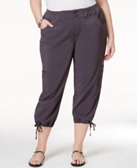 Styleandco. Style Co. Plus Size Capri Cargo Pants Only At Macy's New Graphite Grey
