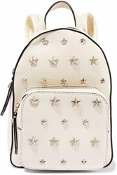 Red Valentino Studded Textured Leather Backpack Cream
