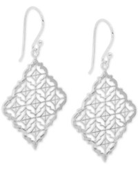 Giani Bernini Filigree Square Drop Earrings In Sterling Silver Only At Macy's