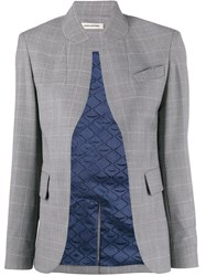 Zadig And Voltaire Checked Open Blazer Green