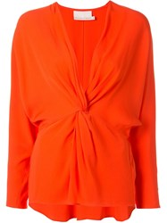 Ginger And Smart Orphic Twisted Front Top Orange