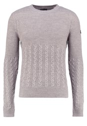 Schott Nyc Jumper Heather Grey Beige
