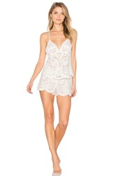 Flora Nikrooz Dorothy Embroidered Cami And Short Set White