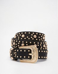 Asos Studded Western Belt Black