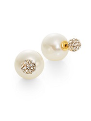 Cara Reversible Faux Pearl And Sparkle Stud Earrings
