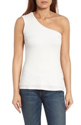 Bobeau Women's One Shoulder Top Off White