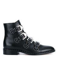 Givenchy Prue Leather Biker Boots Black