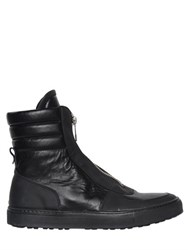 Bikkembergs Zip Leather High Top Sneakers