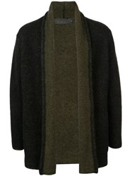 The Elder Statesman Long Sleeve Fitted Cardigan Black