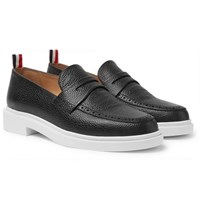 Thom Browne Pebble Grain Leather Penny Loafers Black