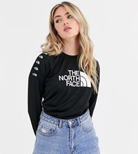 The North Face Tnl Long Sleeve Crop Top In Black