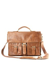Rawlings Sports Accessories Rugged Leather Messenger Bag Cognac