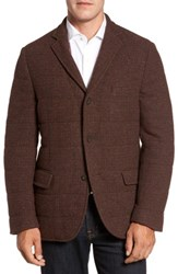 Flynt Men's Big And Tall Quilted Wool Blend Hybrid Coat Rust Olive