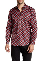 Suslo Couture Long Sleeve Checkered Slim Fit Shirt