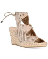 Franco Sarto Nash Wedge Sandals Women's Shoes Taupe