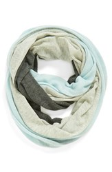 Women's Halogen Tricolor Cashmere Infinity Scarf Blue Heather Blue Combo