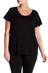 Z By Zella Scoop Neck Tee Plus Size Black