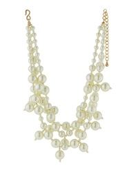 Kenneth Jay Lane Chunky Pearly Bead Three Strand Necklace
