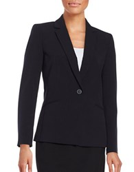 Tahari By Arthur S. Levine Regular Fit Notch Lapel Blazer Navy