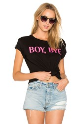 Private Party Boy Bye Tee Black