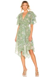 House Of Harlow X Revolve Cecilio Dress Green