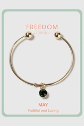 Topshop May Birthstone Bangle Green