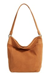 Elle And Jae Gypset Wildleder Suede Hobo Metallic Cognac