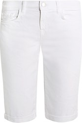 J Brand Beau Stretch Denim Shorts White