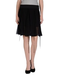 Hanita Knee Length Skirts Black