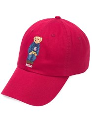 Ralph Lauren Bear Motif Cap Red