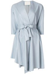 Drome Belted Wrap Dress Grey
