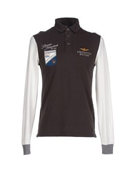 Aeronautica Militare Polo Shirts Dark Brown