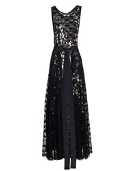 Joe Richards Tutto Metallic Leopard Print Stretch Lace Gown