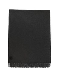 Canada Goose Merino Wool Fringe Scarf Heather Grey