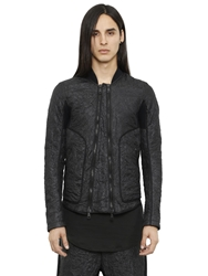 Alexandre Plokhov Wrinkled Light Nylon Bomber Jacket Black