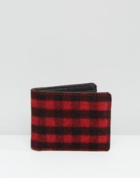 Racing Green Red And Black Check Bifold Wallet Red