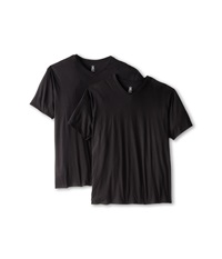 Calvin Klein Underwear Big Tall Basic V Neck 2 Pack Black Men's Clothing