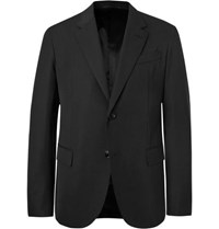 Berluti Black Slim Fit Virgin Wool Suit Jacket
