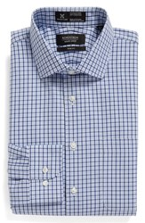 Nordstrom Men's Big And Tall Men's Shop Smartcare Tm Trim Fit Plaid Dress Shirt Blue Yonder
